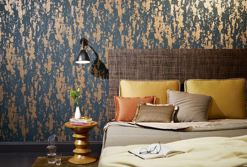 Foto di camera da letto con biancheria e cuscini del brand Zimmer+Rohde