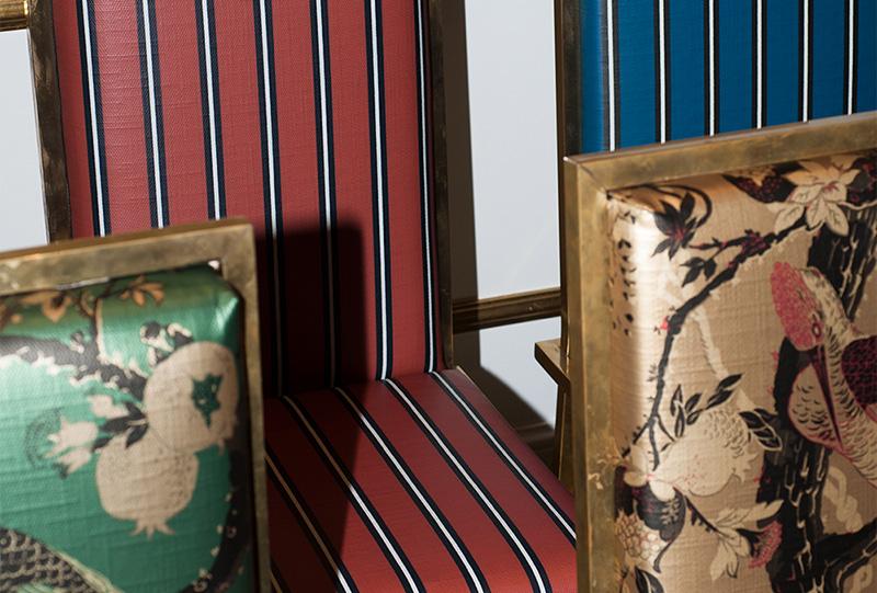 Foto di sedie con tessuti dedar