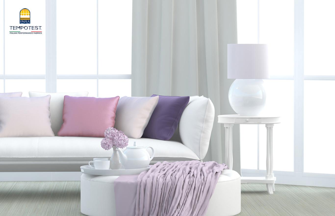 Tempotest Parà tessuto e tendaggio in ambiente interno di vari colori